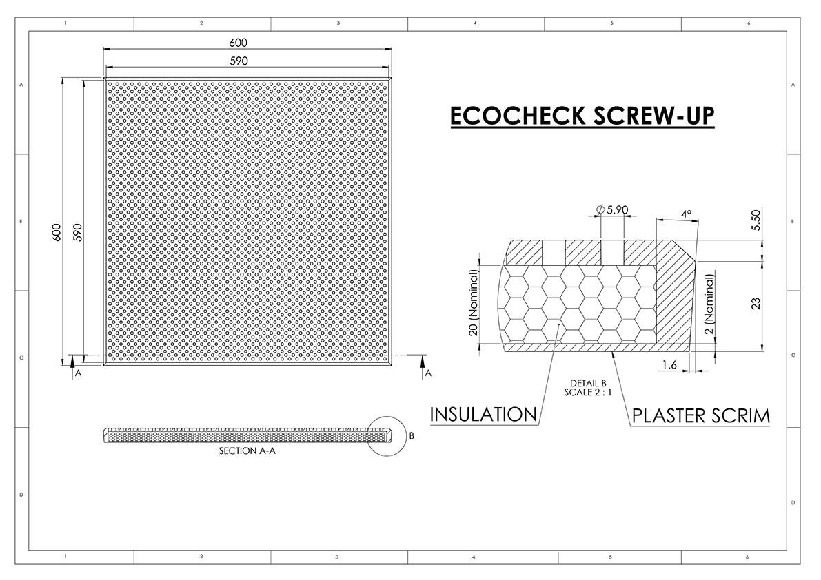 ecocheck screw up sound absorbtion