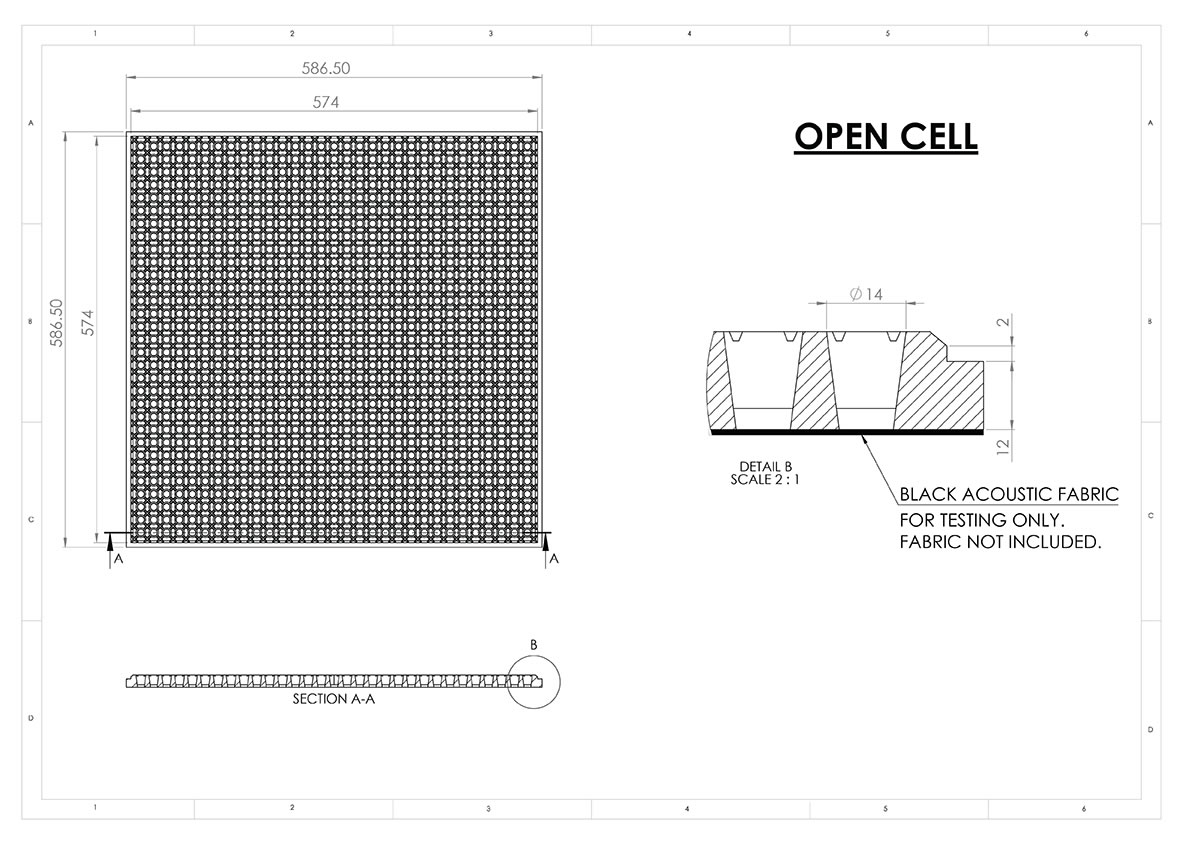 open cell sound absorbtion