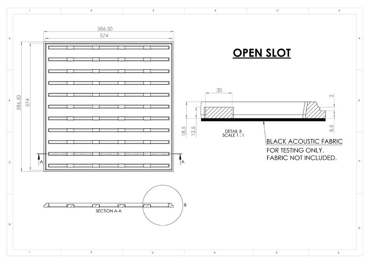 open slot sound absorbtion